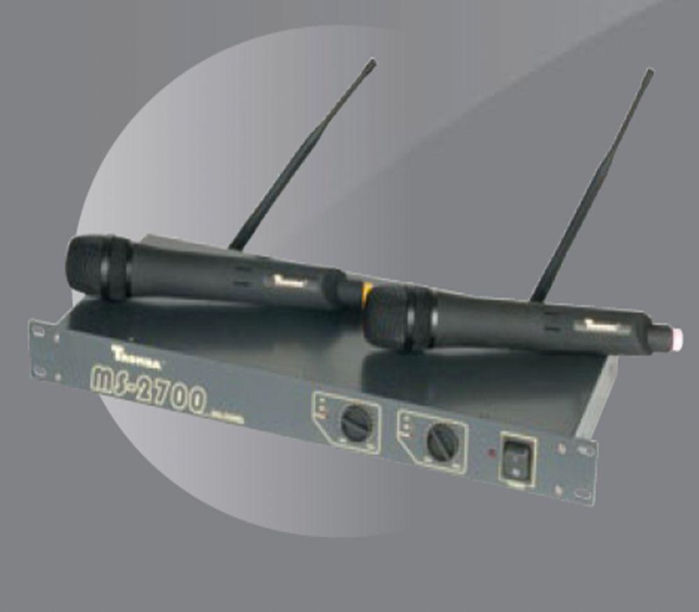 TROMBA MS2700 ÇİFT EL  UHF TELSİZ MİKROFON