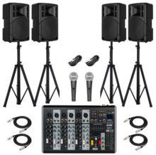 DMM Okul Ses Sistemi Paket-8 Okul Tören Ses Sistemi Seti(AKTİF SİSTEM)