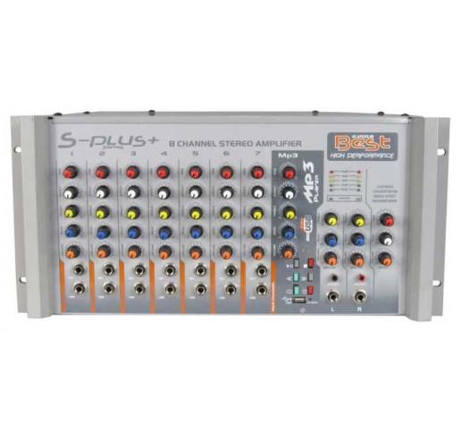 BEST PLUS AN200SU 8 Kanal 2×200 Watt Usb li Stereo Anfi Mixer