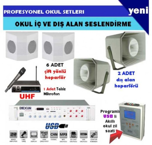 Okul Ses Sistemleri Paket 12