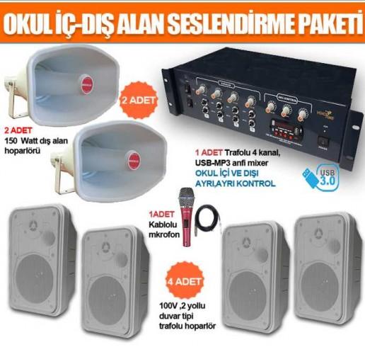 Okul Ses Sistemleri Paket 30