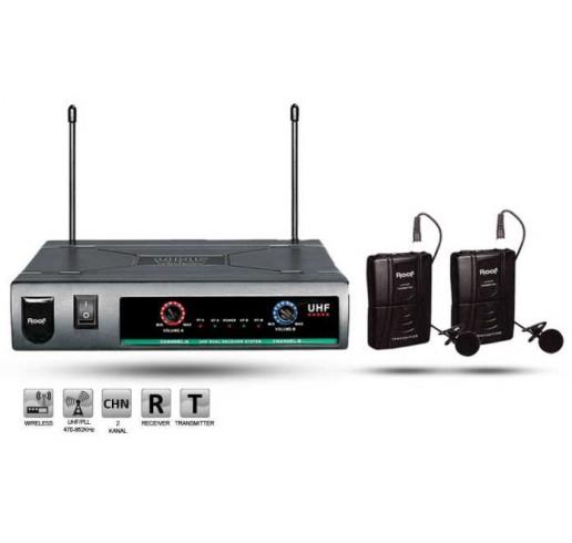 ROOF R-720 Çift Yaka Telsiz Mikrofon Seti